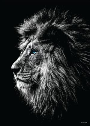 Løve plakat sorthvid sort og hvid lion