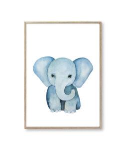 Børneplakater elefant plakat