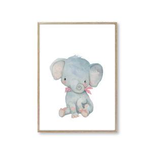 Børneplakater elefant børneplakat