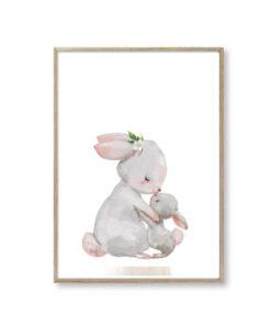 Børneplakater kanin familie