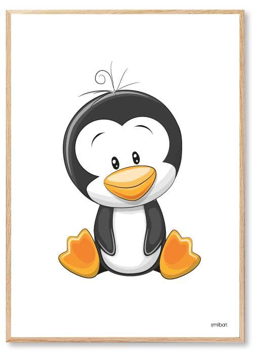Børneplakater-Pingvin