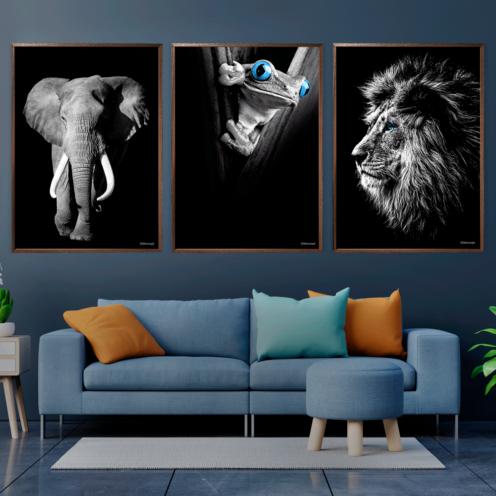 Elefant-Frø-Løve