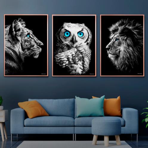 Tiger-Uglen-Løven Plakater