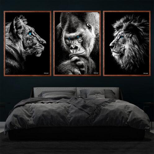 Tigeren-Gorilla-Løve