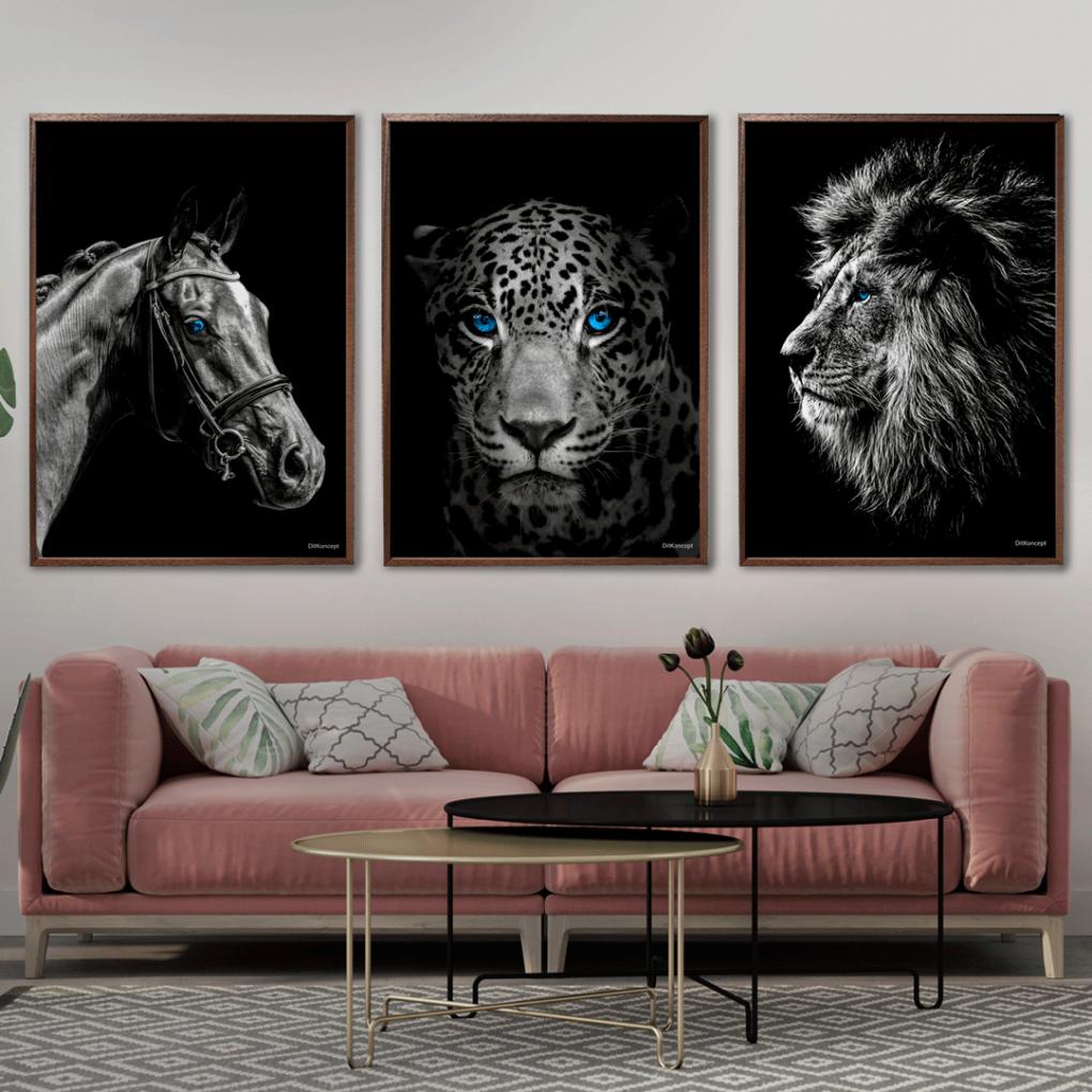 hest-jaguar-løve
