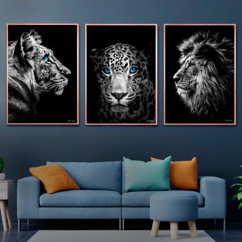 tiger-jagur-løve Plakater
