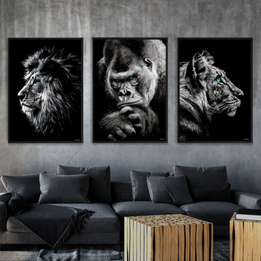 Løve Gorilla Tiger