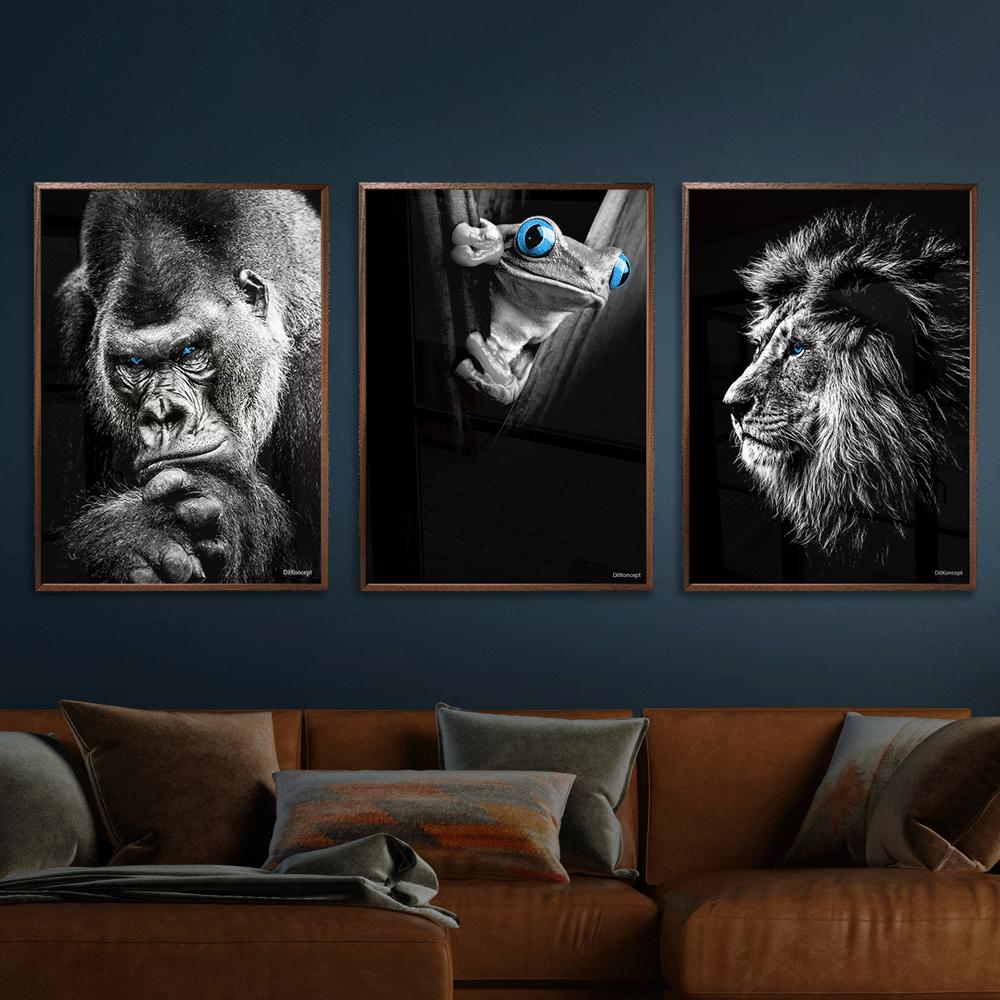 Gorilla-Frø-Løve