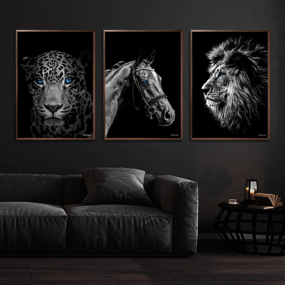 Jaguar-Hest-Løve-Plakat