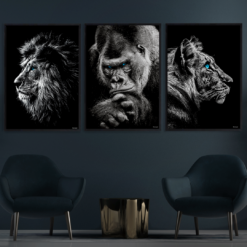 Løve-Gorilla-Tiger