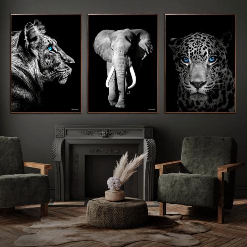 Tiger-Elefant-Jaguar-Plakat