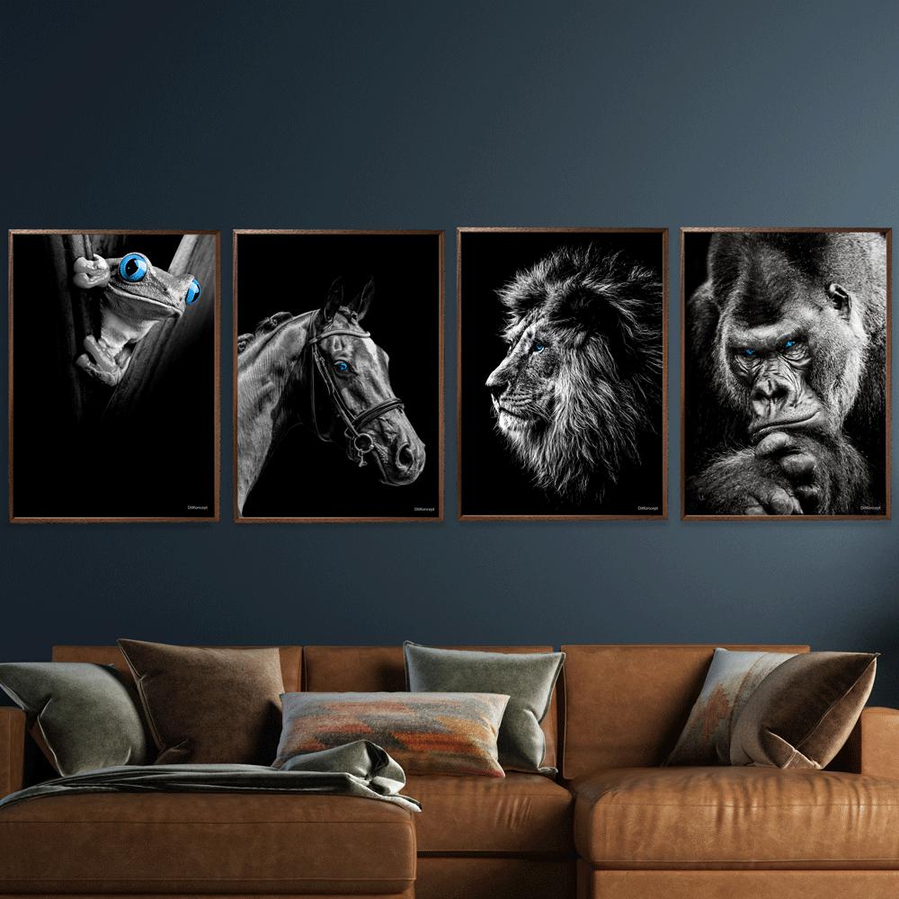 Frø-Hest-Løve-Gorilla