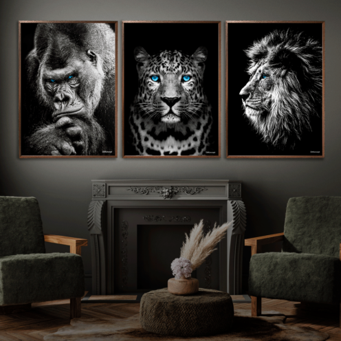 Gorilla-Gepard-Løve