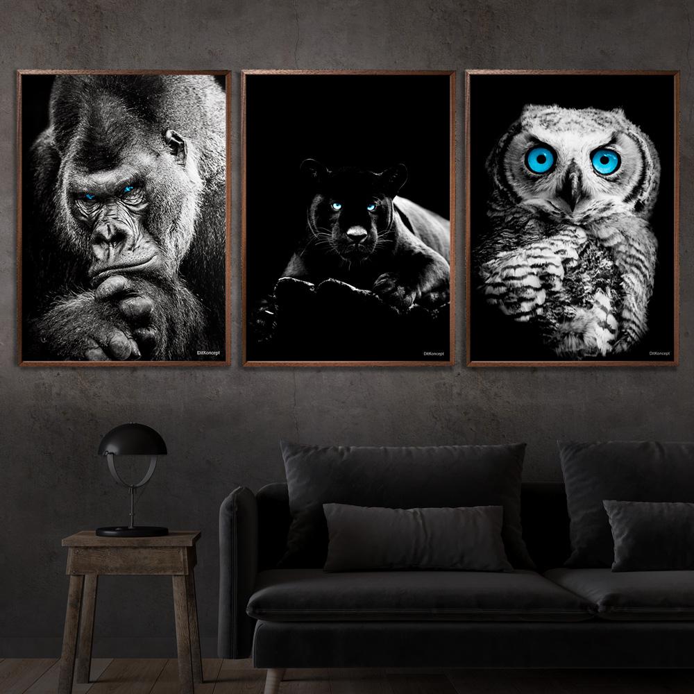 Gorilla-Puma-Ugle-Plakat