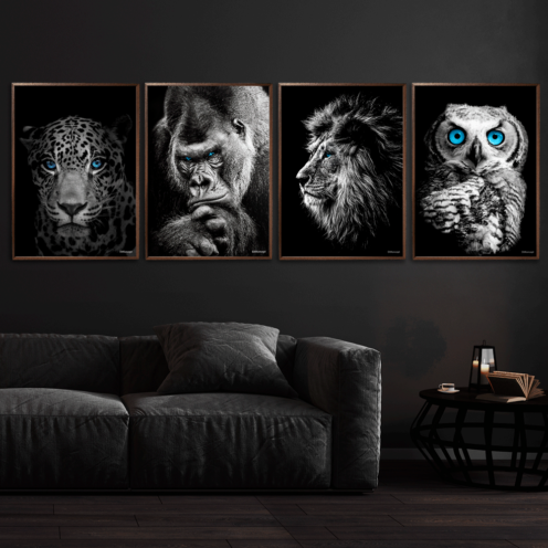 Jaguar-Gorilla-Løve-Ugle