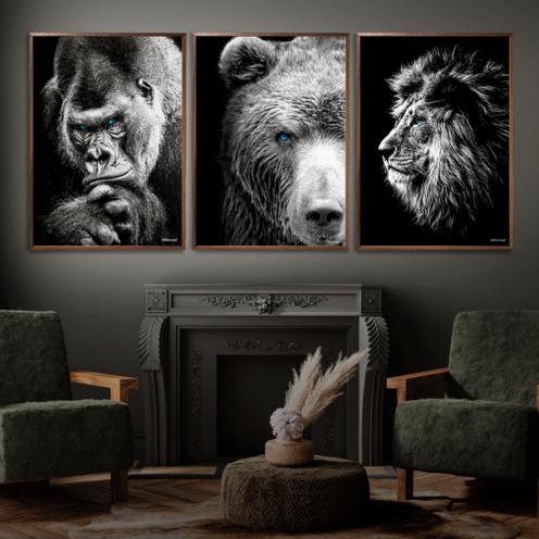 Gorilla-Bjørn-Løve