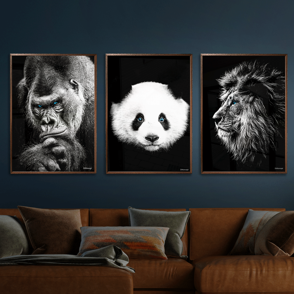 Gorilla-Panda-Løve