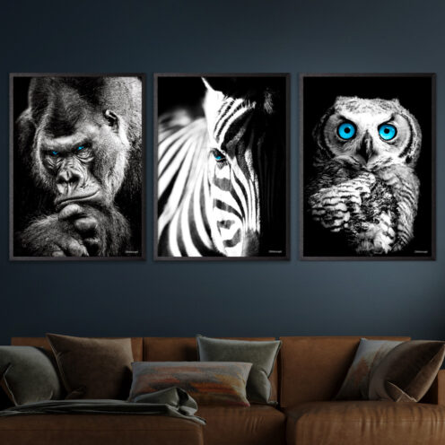 Gorilla-Zebra-Ugle-Plakat