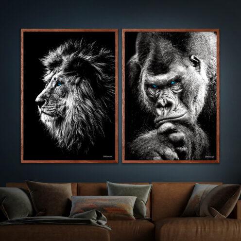 Løve-Gorilla Plakater