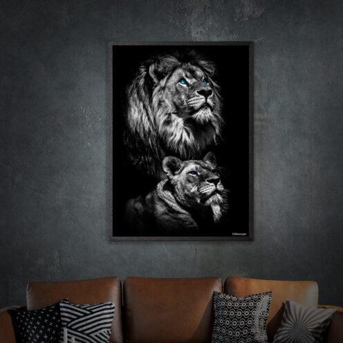 Løve-Plakat-50x70