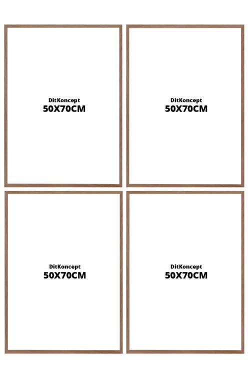 Plakatrammer-50X70CM-Brune-4-stk