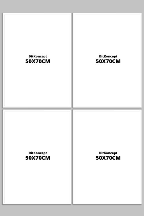 Plakatrammer-50X70CM-hvid-4-stk