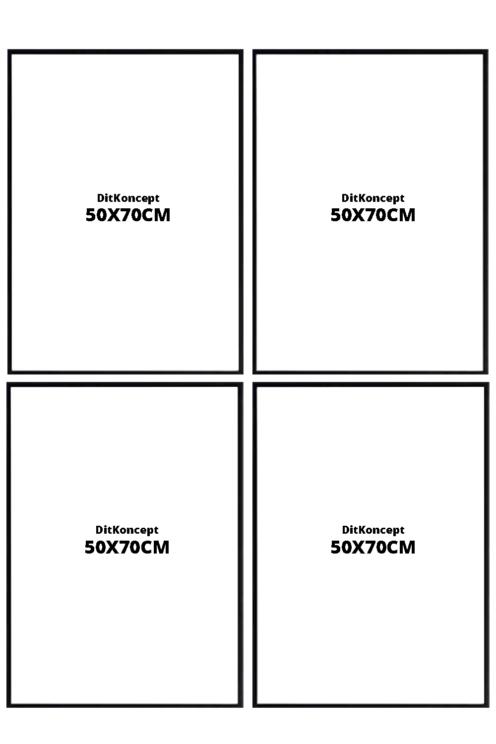 Plakatrammer-50X70CM-sort-4-stk