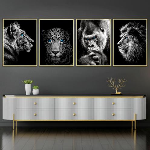 Tiger Jaguar Gorilla Løve