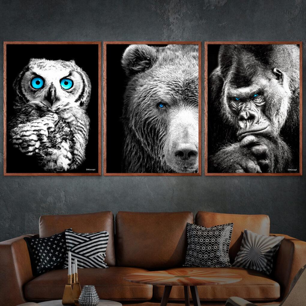 Ugle-Bjørnen-Gorilla