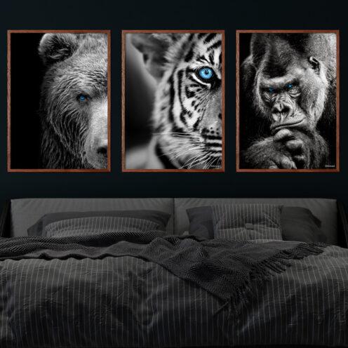 Bjørn-Tigerbarn-Gorilla
