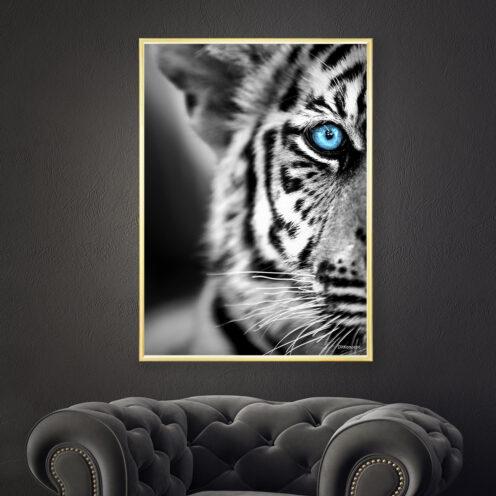 Tigerbarn-Messingramme
