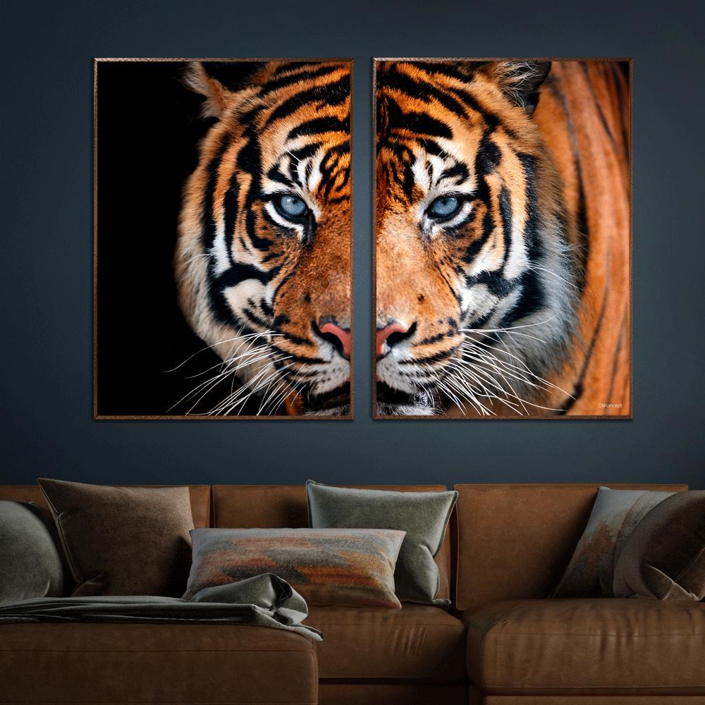Tiger-Brune-plakatrammer